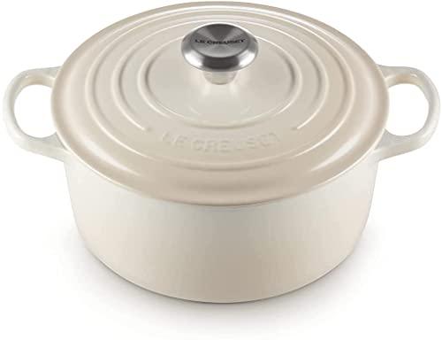 Le Creuset Enameled Cast Iron Signature Round Dutch Oven, 5.5 qt., Meringue