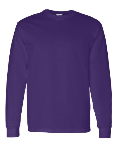 Gildan Mens 5.3 oz. Heavy Cotton Long-Sleeve T-Shirt G540 -PURPLE M