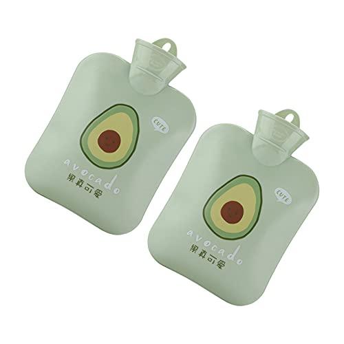 Gaeirt Borsa dell'Acqua Calda Lunga, qualità delle Borse dell'Acqua Calda Portatili per la Pancia delle Mani(Frutta all'olio Verde)