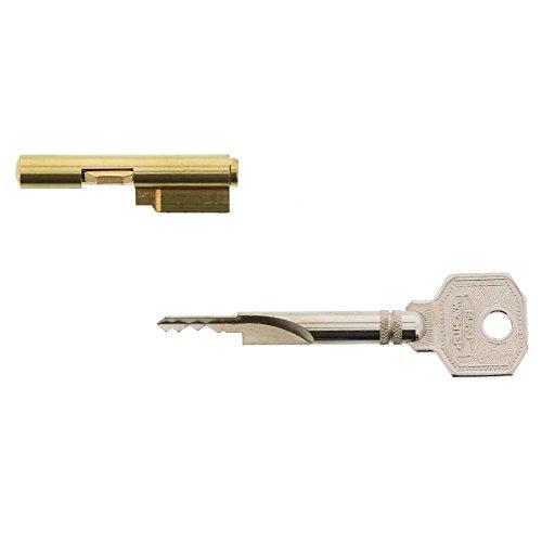 Burg-Wächter chiave per serratura per inserire le serrature, sicurezza per la porta delle camere, diametro del cilindro: 7 mm, con 2 chiavi, E 7 2 SB, 04281, 1 pezzo, Oro Argento