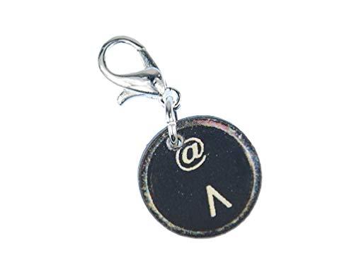 Miniblings Zirkumflex at-Zeichen Charm Anhänger Schreibmaschine Taste @ ^ Holz