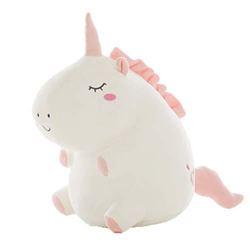 Bogeger, Bambola Giocattolo di Peluche a Forma di Unicorno, graziosa e Rotonda, Giocattolo per Bambini e Studenti, Regalo di Compleanno, Colore Bianco