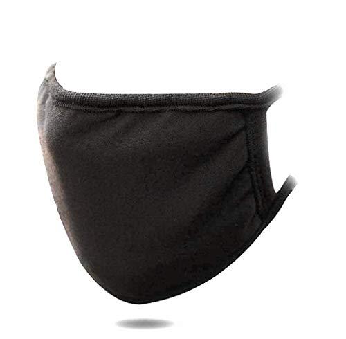 NExtIT Protezione Viso, Anti-polvere, Riutilizzabile Lavabile, in Cotone, Unisex, Nera