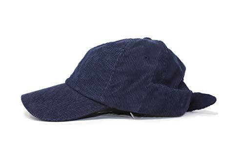 Ann Taylor LOFT Women's Bow-Back Corduroy Baseball Cap (Navy Blue)