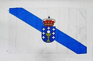 AZ FLAG Galicia Flag 3' x 5' - Spanish Region of Galicia Flags 90 x 150 cm - Banner 3x5 ft Light Polyester