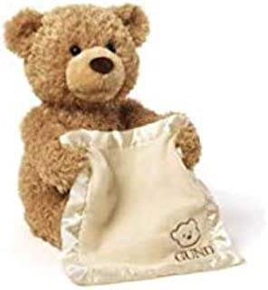 Peek a Boo Teddy Bear Play Hide And Seek Lovely Cartoon Stuffed Kids Birthday Gift 30cm - Music Bear Plush Toy