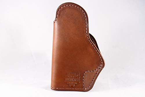 JM4 Tactical Magnetic Concealed Holster | Brown Right Hand Medium 3 High Ride | Fits Firearms Such as Hellcat | Micro .380/9 | P365 XL | P938 and Many More!