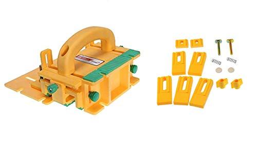 GRR-RIPPER Advanced 3D Pushblock für Tischsäge, Frästisch, Fuder und Bandsäge von MICROJIG, Mit Gravity Fersen-Set