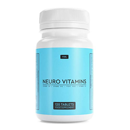 VSBL Brain Supplement - High Strength Formula with Vitamin D3, Vitamin B12, B6 and Folic Acid - No Artificial Flavours or Sweeteners - Multivitamin Tablets for Men and Women - 120 Neuro Vitamins