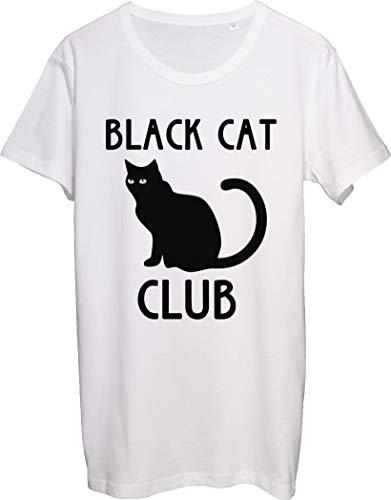 Black Cat Club Nice Suspicious Black Cat Sitting - Camiseta para hombre