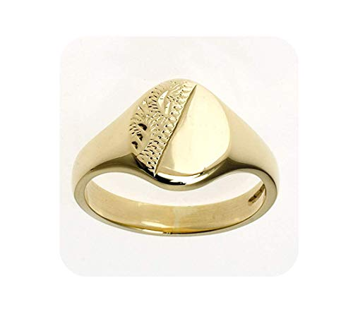 Signet Ring Yellow Gold Ladies Solid Heavy Hallmarked Handmade Size F - V - Size: H