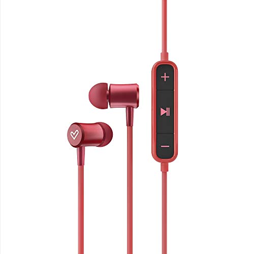 Energy Sistem Earphones BT Urban 2 Red (Auriculares inalambricos, Bluetooth, Magnetic Switch, In-Ear, Control Talk) Rojo