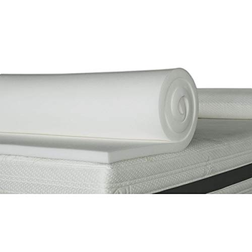 ventadecolchones.com Plancha de Viscoelástica para Topper Sin Funda (135 x 190 cm - 3 cm de Visco)