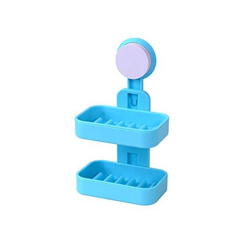 Xuan - Worth Having Blaue doppelte materielle kreative Seifen-Plastikstangen-Badezimmer-Saugnapf-Art