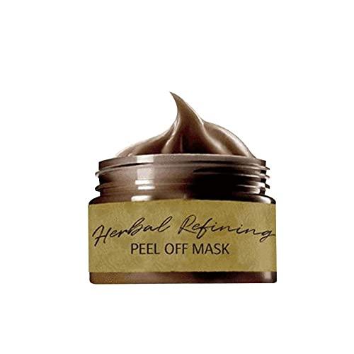 Mascarilla Peel off a Base de Hierbas, Mascarilla Removedora de Espinillas Peel off Strong, Crema Para el Tratamiento del Acné, Limpieza Profunda Purificante, Retráctil para los Poros (120ml)