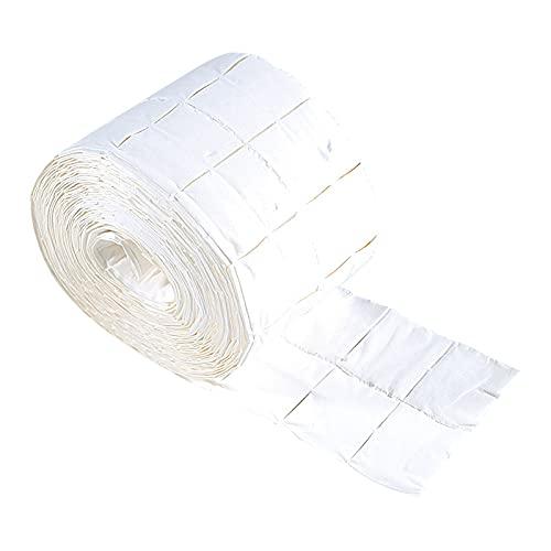 YUECI Rolle mit 500 fusselfreien Tüchern, Gel-Entferner-Pads, Zellstofftupfern, Nagelreinigungstuch und Baumwolle,Nageldesign Modellage Maniküre Zellstoff Nagellackentferner Handtuch