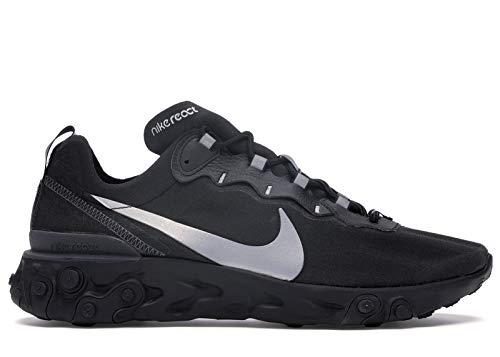 Nike Men's React Element 55 SE Running Shoes, Black/Anthracite, 11.5