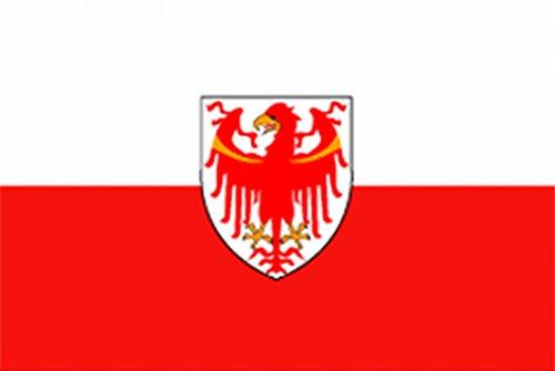 Flagge/Fahne SÜDTIROL mit Wappen Staatsflagge/Landesflagge/Hissflagge mit Ösen 150x90 cm, gute Qualität