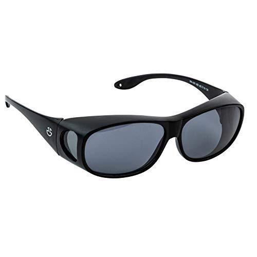 Over Glasses Sunglasses For Men and Sunglasses for Women, UV Protection Fit Over Sunglasses Matte Black Wrap Around Sun Glasses with Non-Polarized Smoked Lenses (Non-Polarized Lenses)