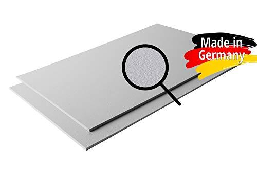 ASA/ABS Platte Kunststoff Platten | GENARBT | GRAU RAL 7040 | 1000x490mm | in Stärken 2mm | 4mm | TOP Qualität | genarbte Oberfläche (2mm, 100 x 49 cm)