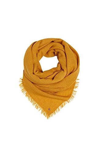 ESPRIT edc by Accessoires Damen 089Ca1Q003 Schal, Gelb (Brass Yellow 720), One Size (Herstellergröße: 1SIZE)