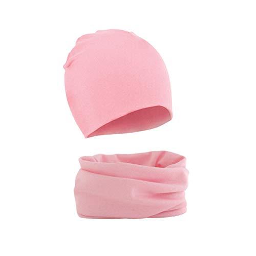 junengSO 2Pcs Herbst Winter Warm Baby Hut Schal Set Einfarbige Kappe Für Jungen...