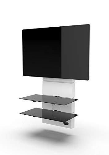 Meliconi GHOST Design 3500 Rotation Bianco Matt Supporto da Muro per TV da 32' a 65', vesa 200, 300, 400 mm