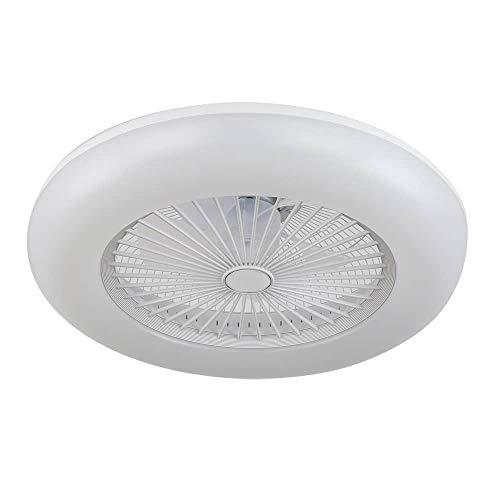 ACTiO LED 770011-ABL lámpara ventilador de techo luz led 60W IKARO blanco mando distancia, regulable intensidad, 3 tonalidades, silencioso, 7 aspas protegidas, 3 velocidades, D.50cms.