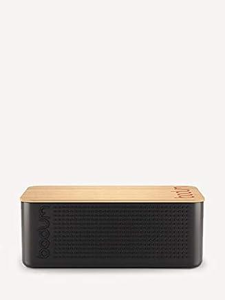 Bodum Australia Pty Bread Box with Cutting Board, Black, 11555-01