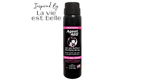 Agent 420 Air & Surface Purifying Spray - Erases Cigarette, Cigar & Most Foul Odors Breaks Down Smoke Odor at The Molecular Level - Eliminates Odors from Cars & Homes - 3.5 oz Spray
