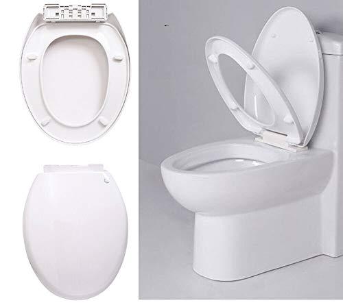 PowerTools-WC Sitz, Premium Toilettensitz mit Absenkautomatik, O-Form WC Deckel Klobrille, Klodeckel - universelle Größe für alle Standardtoiletten, Toilettendeckel mit langsamer Absenkung Funktion
