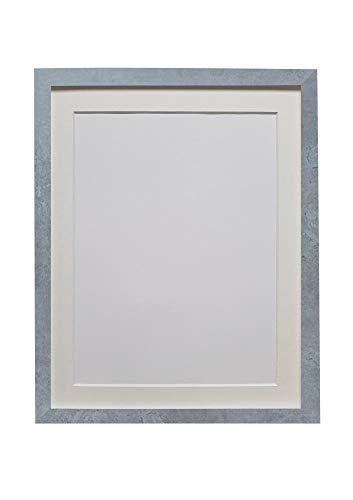 Cadre H7 gris minéral avec contour ivoire A1 taille d'image A2 verre plastique