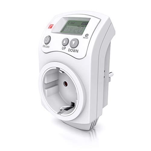 CSL - Thermostat digital - Steckdosenthermostat - Steckdosen Thermostat für Heizung Heizgeräte Infrarotheizung Kühlgeräte - programmierbar - Anti-Frost-Modus - Weiß - benutzeroptimierte Anleitung