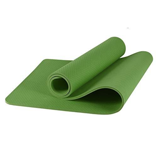 JT- 8mm Yoga Mat Espesado 80cm Ensanchamiento Alargado Mujer Antideslizante TPE Yoga Mat Estera de la Aptitud Alfombrilla Antideslizante for Principiantes Fácil de almacenar