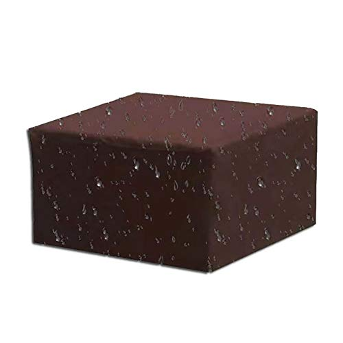 Simple Coffee-gekleurde meubilair Outdoor Garden tafel dekken, Heavy Oxford Doek Waterdicht/Ultraviolet Cover Storage Cover, Universal For All Seasons (Color : Brown, Size : 210 * 110 * 70cm)