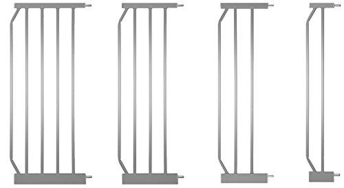 IB-Style -Prolunga per Cancello di sicurezza Mika - Cancelletto securella argento | 4 diverse lunghezze | 30cm