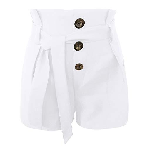 Longra 🌺 💞Yoga Mujeres! Mujer Sexy Cintura Alta Slim Fit Casual Estilo de Dama con cinturón Moda Beach Pantalones Cortos