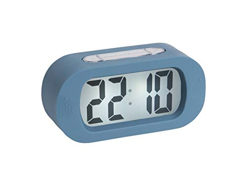 Karlsson - Uhr, Wecker Gummy - Silikon - blau - H7 x B14 x T5 cm