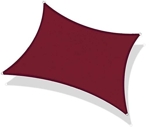 Velas de sombra rectángulo Anti-UV Toldo Pergola impermeable cortina de Sun Net...