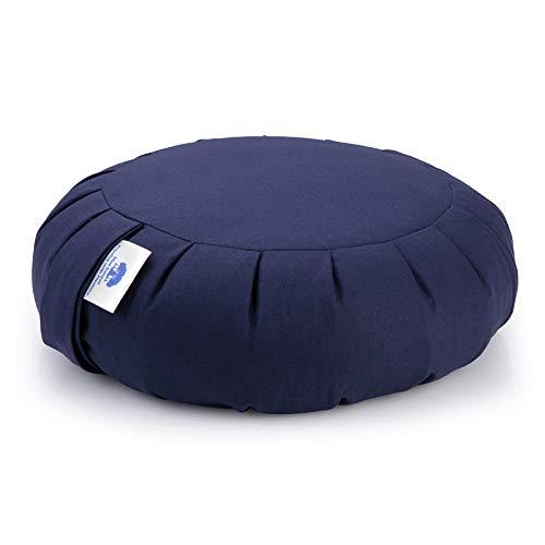 Blue Banyan Zafu Meditation Cushion (Organic Buckwheat) UK Made