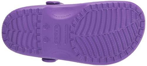 Crocs Unisex Classic Clogs, Neon Purple, UK M5/W6