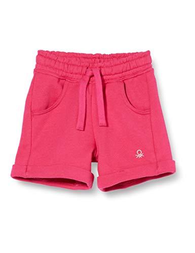 United Colors of Benetton Bermuda Pantalones Cortos, Rosa (Pink Peacock 2l3), 86/92 (Talla del Fabricante: 2Y) para Bebés