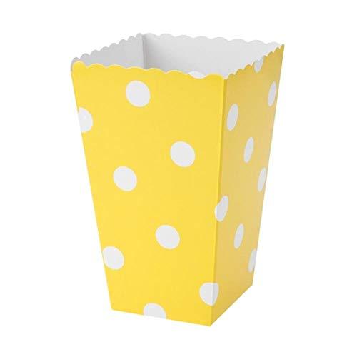 DIAZ 100 stks verjaardagsfeestje geschenken doos gunst snoep traktatie popcorn sanck dozen bruiloft aanbod golf cirkels douche gestreepte kerst, geel