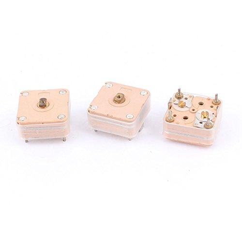 YeVhear 3pcs 224pF 4 condensadores variables de ajuste de cortacésped PCB Lineal para radio