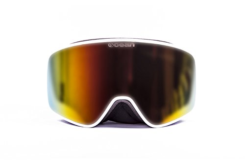 Oceansunglasses Aspen White frame with revo red lens