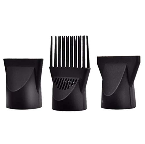 3 Stück Professionelle Kunststoff-Haartrocknerdüse Diffusor Haartrockner Düse Kamm Aufsatz Konzentrator Ersatz Föhn Flach Friseur Salon Styling Werkzeug speziell für Durchmesser 4,5 cm (schwarz)
