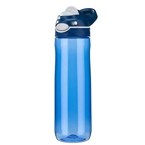 Taza De Agua Deportiva Taza De Fitness Portátil Botella De Agua De Bicicleta Anti-otoño Plástica (Color : Blue)