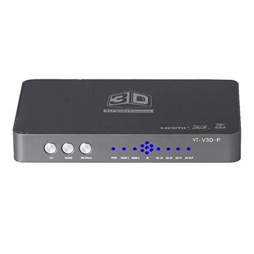 Exanko Konverter / 2D zu 3D / Videokonverter und Rechts auf und Ab Format zu 3D Geeigneter Projektions Blu- Ray Film EU Stecker