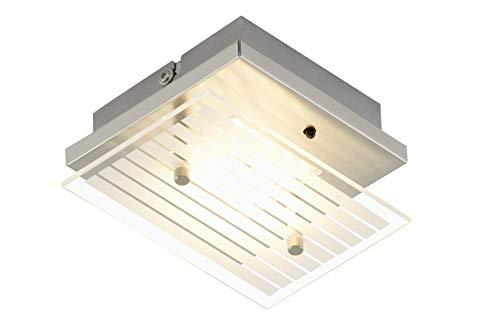 Briloner Leuchten - LED Deckenleuchte, Deckenlampe, dimmbar, Farbsteuerung, inkl. Fernbedienung Metall, 3.6 W, matt-nickel, 15 x 12 x 6.6 cm