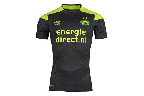 UMBRO Erwachsene PSV Away Team Jersey, Carbon/Safety Yellow, L